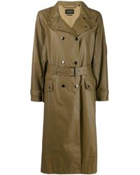 Isabel Marant Double-breasted trench coat - Grün