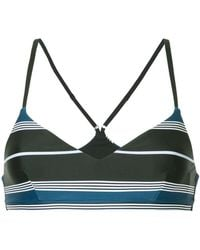 The Upside - Stripped Compression Bra - Lyst