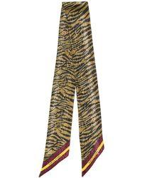 Paura Leopard-print Scarf - Yellow