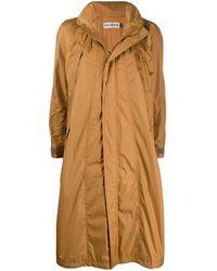 Issey Miyake Hooded A-line Raincoat - Brown