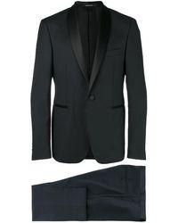 Tagliatore Shawl lapel suit - Noir