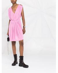 Rick Owens ノースリーブ ドレープドレス - ピンク