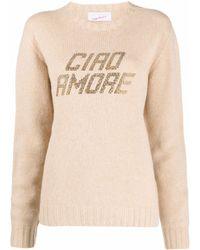Giada Benincasa Ciao Amore プルオーバー - ナチュラル