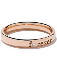 De Beers - Anello Forever in oro rosa 18kt e diamanti - Lyst