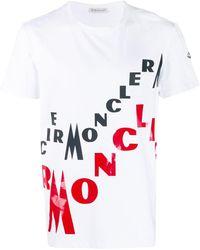 1399d31b2 Moncler Shark Print T-shirt in Blue for Men - Lyst