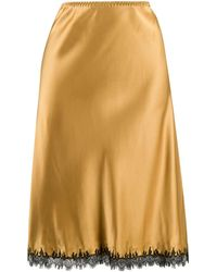 Gilda & Pearl レーストリム スカート - イエロー
