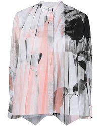 Alexander McQueen Rose-print Cotton Shirt - Multicolour