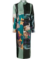 Ferragamo Silk Susanne Midi Dress - Black
