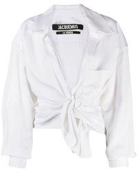 Jacquemus - Knot Detail Shirt - Lyst
