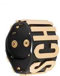 Moschino Logo Lettering Bracelet - Black