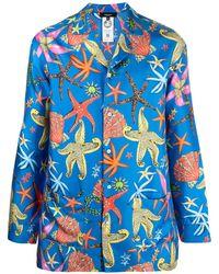 Versace Пижамная Рубашка С Принтом - Черный