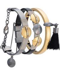 Camila Klein Three bracelets set - Multicolore
