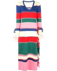 Rosie Assoulin ストライプ ニットドレス - マルチカラー