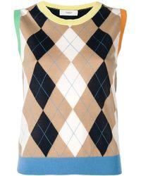 Pringle of Scotland アーガイルセーター - ブルー