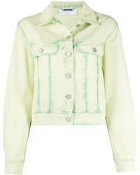 Alberta Ferretti Джинсовая Куртка Из Вареного Денима - Зеленый