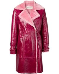 Emilio Pucci Bordeaux Shearling Jacket - Pink