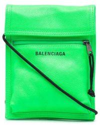 Balenciaga エクスプローラー ストラップ ポーチ - グリーン