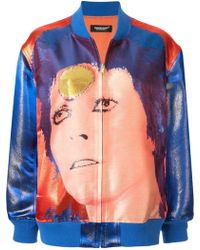 Undercover Bowie ボンバージャケット - ブルー