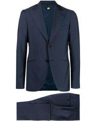 Maurizio Miri Two-piece Peaked Lapel Suit - Blue