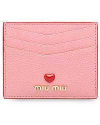 Miu Miu マドラス ラブ カードケース - ピンク