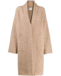 Laneus - Oversized Knit Coat - Lyst