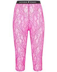 Natasha Zinko Lace Cycling Shorts - Pink