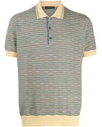 Prada - パターン ポロシャツ - Lyst