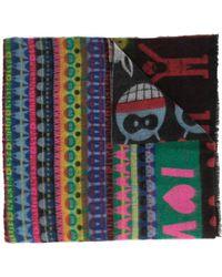 Walter Van Beirendonck I Love W Double Wide Scarf - Multicolor