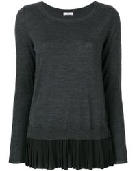 P.A.R.O.S.H. - Pleated Hem Jumper - Lyst