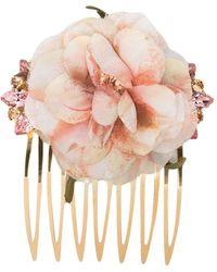 Dolce & Gabbana Гребень С Цветочным Декором - Металлик