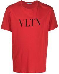 Valentino Футболка С Логотипом Vltn - Красный