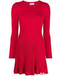 RED Valentino - コントラストトリム プリーツドレス - Lyst