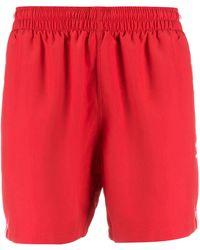 adidas Bermudas con rayas con logo - Rojo
