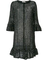 Charlott Fringe Knit Cardigan - Blue