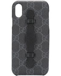 Gucci Funda de iPhone XS con motivo GG - Negro