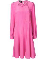 Rochas Tie front shift dress - Rosa