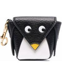 Anya Hindmarch Penguin 財布 - ブラック