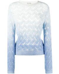 L'Autre Chose グラデーション セーター - ブルー