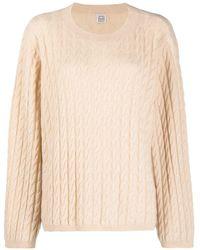 Totême - Cable-knit Jumper - Lyst