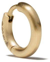 Le Gramme Единичная Серьга 17/10g Ribbon Из Желтого Золота - Металлик