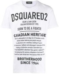 DSquared² T-shirt Canada Heritage - Blanc