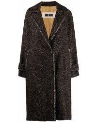 Uma Wang Manteau droit à bords francs - Noir