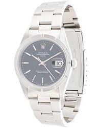 Rolex - Наручные Часы Oyster Perpetual Date Pre-owned 32 Мм 1997-го Года - Lyst