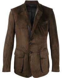 Tom Ford Однобортный Пиджак На Молнии - Коричневый