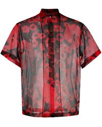 Les Hommes Ethereal Silk Shirt - Black