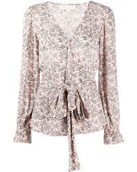 MICHAEL Michael Kors Блузка С Цветочным Принтом - Розовый