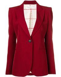 Victoria Beckham Blazer classique - Rouge