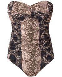 Amir Slama Sleeveless Swimsuit - Bruin