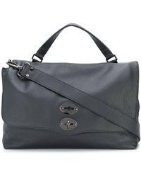 Zanellato Pebbled Messenger Bag - Black