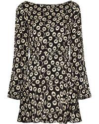RIXO London Платье Valentina С Цветочным Принтом - Черный